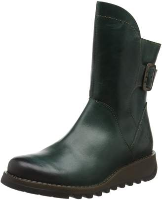Fly London Womens Sien 571 Rug Petrol Leather Boots 39 EU