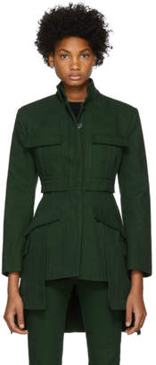 Alexander McQueen Green Military Jacket