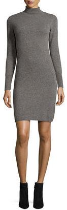 Neiman Marcus Cashmere Collection Cashmere Long-Sleeve Turtleneck Dress $240 thestylecure.com