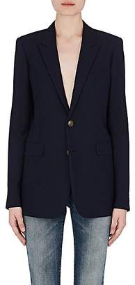 Saint Laurent Women's Wool Gabardine Two-Button Jacket - Navy