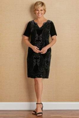 Soft Surroundings Venetian Velvet Dress
