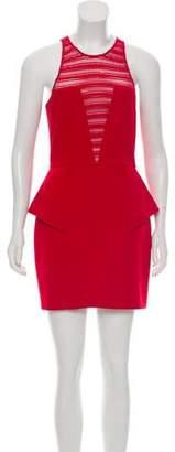 Mason Lace-Trimmed Peplum Dress