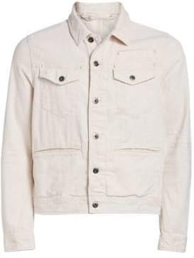 G Star Distressed Back Patch Denim Jacket
