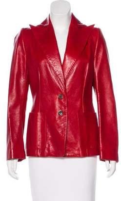 Ann Demeulemeester Leather Structured Blazer