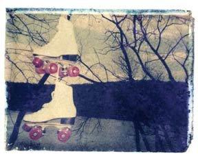 She Hit Pause Skates Print