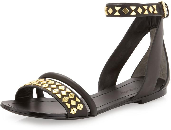 Boutique 9 Panthino Studded Flat Sandal, Black