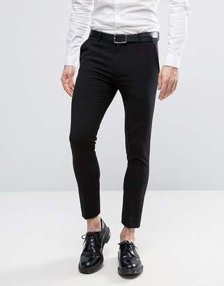 Asos Design Extreme Super Skinny Crop Smart Trousers in Black