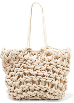 Alienina Bea Woven Cotton Tote - Off-white