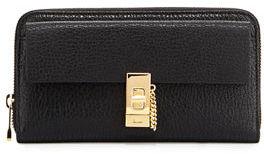 Chloé Chloe Drew Leather Zip-Around Wallet, Gray