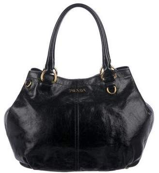 Prada Vitello Shine Shopper Tote