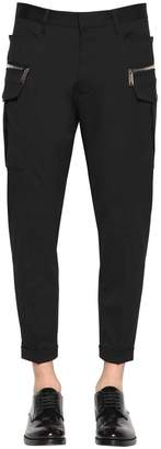 DSQUARED2 16cm Hockney Cargo Stretch Wool Pants