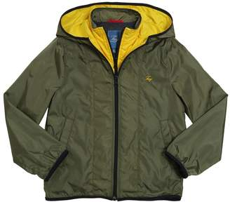 Fay Hooded Double Zip Nylon Jacket