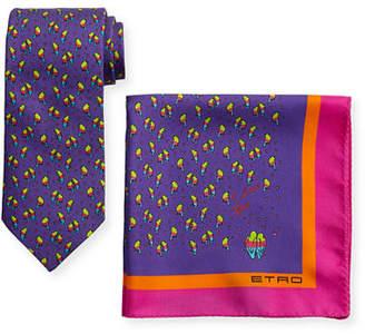 Etro Ladybugs Boxed Tie & Pocket Square Set