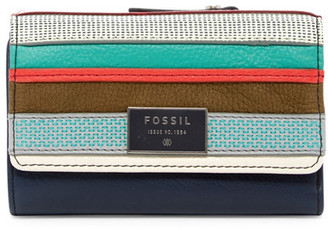 Fossil Dawson Leather Patchwork Multifunction Wallet $70 thestylecure.com