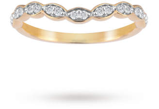 18ct Yellow Gold 0.15cttw Dip Band Ring