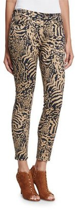7 For All Mankind The Ankle Skinny Royal Leopard Jeans $199 thestylecure.com