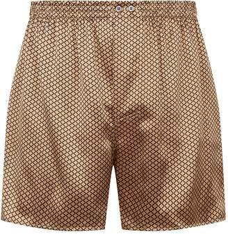 Zimmerli Flower Print Silk Boxer Shorts