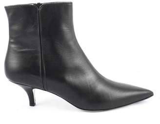 Roberto Festa Black Calf Leather Ankle Boots