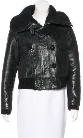 Balenciaga Balenciaga Distressed Leather Jacket