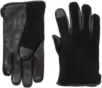 Ben Sherman Men's LTHR Knit Driving Glove