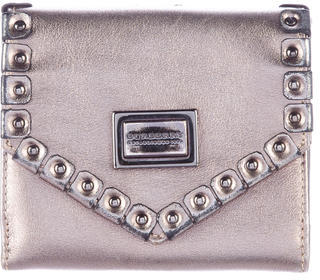 Burberry Burberry Embellished Leather Wallet