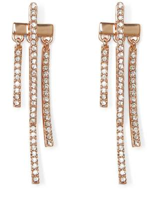 Vince Camuto Rose Goldtone Pave Drop-back Earrings