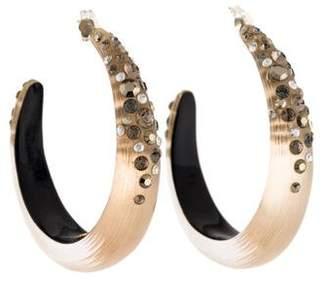 Alexis Bittar Lucite & Crystal Hoop Earrings