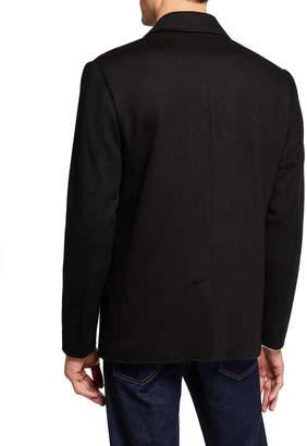 Karl Lagerfeld Paris Men's Textured Blazer With Zipper Pockets