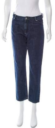 MAISON KITSUNÉ High-Rise Straight-Leg Jeans w/ Tags