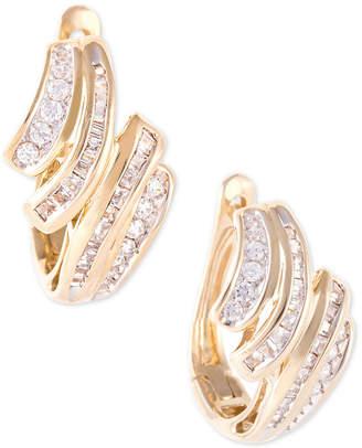 Macy's Wrapped In LoveTM Diamond Wave Hoop Earrings (1/2 ct. t.w.) in 10k Gold, Created for