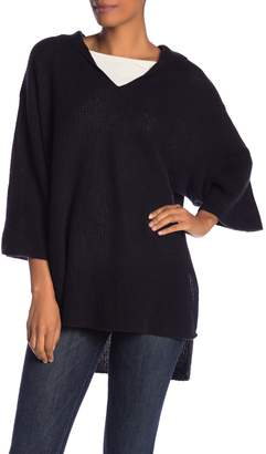 Halogen Cashmere Hooded Poncho