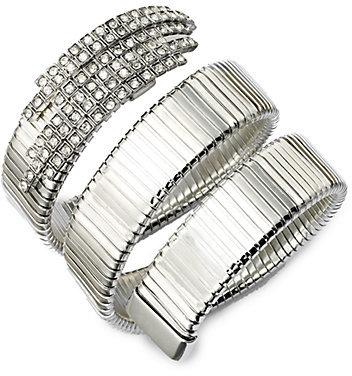 CA&LOU Snake Pavé Crystal Coil Bracelet
