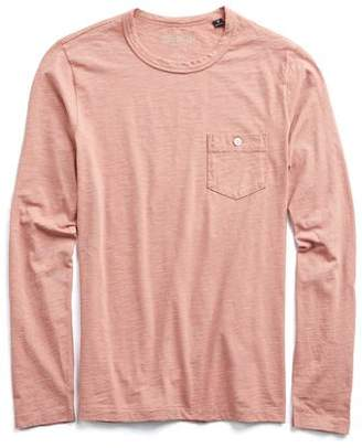 Todd Snyder Made in L.A. Garment Dyed Long Sleeve Tee in Dusty Pink