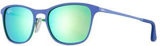 Ray-Ban Junior Junior Chris Mirrored Square Sunglasses $100 thestylecure.com