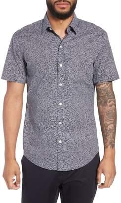 BOSS Robb Trim Fit Floral Short Sleeve Sport Shirt