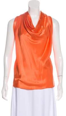 Lanvin Sleeveless Cowl Neck Top