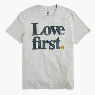 """J.Crew X Human Rights Campaign """"Love first"""" graphic T-shirt"""