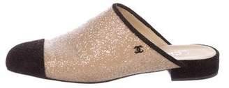 Chanel 2017 Glitter Cap-Toe Mules