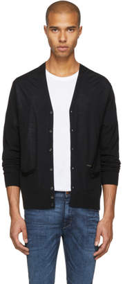 DSQUARED2 Black Wool Cardigan