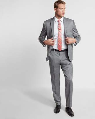Express Classic Gray Wool Blend Oxford Suit Pant