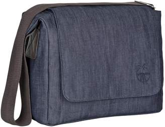 Lassig Green Label Small Messenger Crossbody Diaper Bag includes Changing Mat, Bottle Holder and Stroller Hooks, Blue