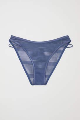 H&M Bikini Briefs high leg - Blue