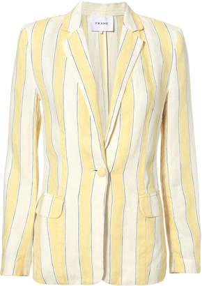 Frame Linen Striped Blazer