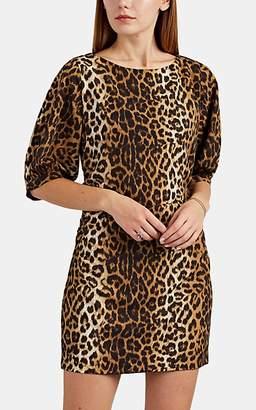5d1c316bde FiveSeventyFive Women s Ruched Leopard-Print Minidress