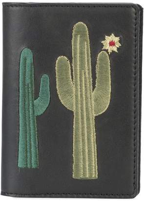 Lizzie Fortunato embroidered cactus note wallet