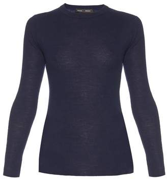 Proenza Schouler - Open Back Long Sleeved Knit Sweater - Womens - Navy