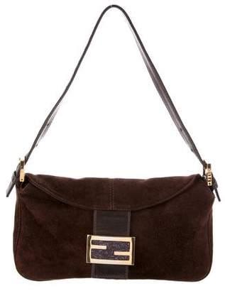 Fendi Suede Shoulder Bag