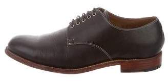 Grenson Pebbled Leather Round-Toe Derby Shoes
