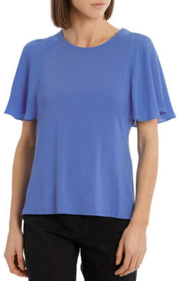 Basque NEW Must Have Chiffon Tee Elec Blue