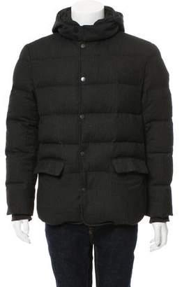 John Varvatos Wool-Blend Puffer Coat